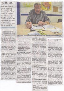 ARTICLE DE PRESSE CHASSE A L'OIE