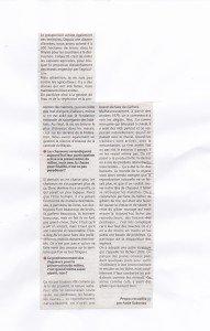 SUITE ARTICLE DE PRESSE